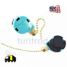 Zing Ear ZE-268S6 & ZE-208S6 Pull Chain Switch 3 Speed  Brass