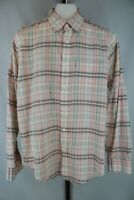 Abercrombie & Fitch Mens Pink Plaid Long Sleeve Button Down Casual Shirt Size L