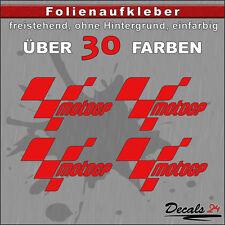 4er SET - MOTOGP Sponsoren Folien-Aufkleber - 30 Farben - 8cm
