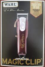 New Wahl Cordless Magic Clip #8148 FADE Clipper 110-220 Volts 50/60 Hz