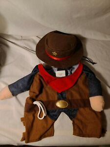 """""""COWBOY"""" OUTFIT AND HAT Puppy/Dog  LARGE"""