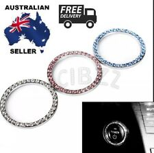 Car Auto Key Ignition Button Decal Sticker Rhinestone Ring Choose 3 From COLORS
