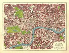 LONDON PLAN.West End Pimlico City Southwark Islington Lambeth. JOHNSTON 1906 map