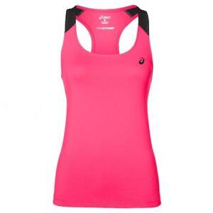New ASICS Vest Tank Top T-Shirt  - Pink - Ladies Womens Gym Fitness Running Yoga