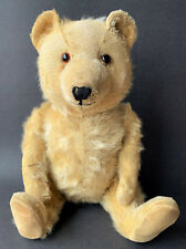 """Chiltern Ting-A-Ling Antique Teddy Bear 16"""" Medium Gold Blonde Mohair Chimes"""