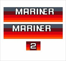 MARINER 2HP OUTBOARD  2 HP STICKERS  DECALS  SELF ADHESIVE Others Available
