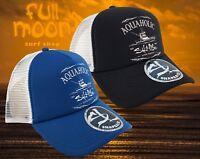 New Salt Life Aquaholic Trucker Snapback Mens Cap Hat