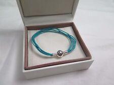 New Pandora Teal Med  Multi Strand Cord Bracelet 590715CTUM M2 Gift set option