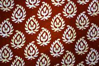 Indian Poly Silk  Fabric Floral Craft Cloth Dress Material Per yard