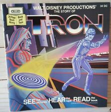 New listing The Story Of Tron Read Along Adventure Book And Cassette Walt Disney 1983