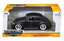 JADA 1959 VOLKSWAGEN BEETLE MATTE BLACK WITH BABY MOON WHEELS 1/24 DIECAST CAR