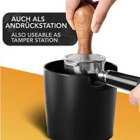 [Black] Durable COFFEE KNOCK BOX Bin Espresso Grinds Tamper Waste Tamp