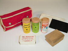 Vintage Nos Fritz Wiessner Wonder Wax Downhill Racing Jumping Ski Wax Kit in Bag