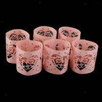 6 Tea Light Candle Paper Wraps Flameless Votive Candle Holders Party Decorations