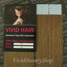 10pcs 22 inches Remy Seamless Tape Skin Weft Human Hair Extension Dark Blonde #7