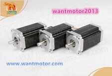 Free to USA! Wantai 3PCS Nema34 Stepper Motor single Shaft 6A 1700oz-in CNC KIT