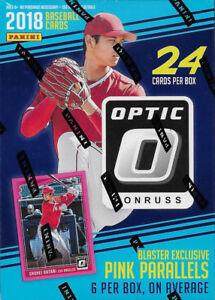 2018 Donruss OPTIC Baseball Blaster Box of Packs 6 EXCLUSIVE Pink PRIZM Cards