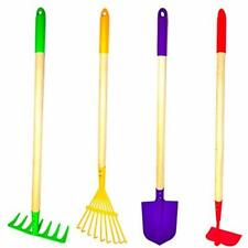 G Gardening Tools & F Products JustForKids Set Toy, Rake, Spade, Hoe Leaf