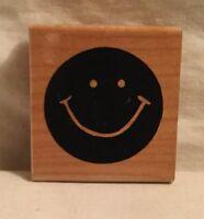 JRL Design L222 Smiley Solid Rubber Stamp Wood