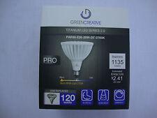 Green Creative PAR38-E26 Titanium LED Series 2.0 Light Bulb 20W 25 Degree 2700K