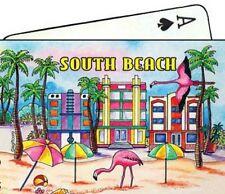 SOUTH BEACH FLORIDA MAP COLLECTIBLE SOUVENIR PLAYING CARDS