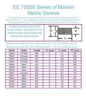 EE 75001 NEW Marklin Metric Screw f H0 M2x5.0mm Chrome 750010