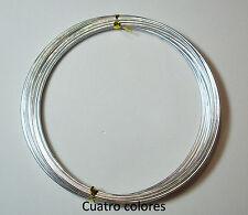 5 METROS ROLLO HILO ALUMINIO ALAMBRE 1mm COLOR  PLATA. AL2