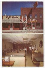 Night Hawk Café Interior Camdenton Missouri postcard