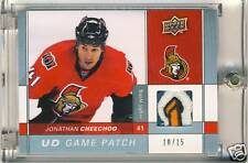 Jonathan Cheechoo 09-10 UD Game Patch 10/15 Sweet PATCH