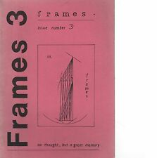 """FRAMES No.3"" - POEMS BY ALISON BIELSKI, JOHN TRIPP, CARL TIGHE - NEWPORT (1985)"