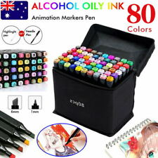 82x Marker Pen Set Dual Heads Graphic Artist Craft Sketch Copic TOUCH Markers