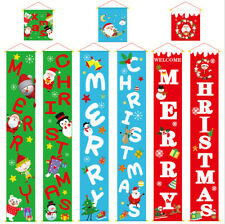 Merry Christmas Porch Banner Hanging Sign Home Xmas Party Decor Door Ornaments