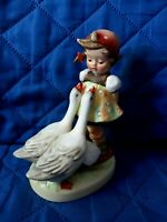 GOEBEL HUMMEL W GERMANY GOOSE GIRL 5'' # 47/0 RARE PERFECT SHAPE