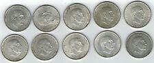 Lote 10 Monedas España 100 pesetas Franco 1966 plata.800 silver coin