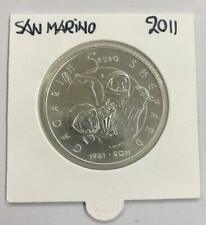 SAN MARINO 2011 - 5 EURO - ZILVER UIT SET - FIRST MANNED MISSION TO SPACE
