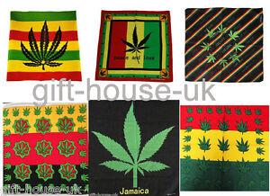 Green Leaf Bandanna Headwear Band Scarf Neck Wrist Wrap Band HeadtieB3