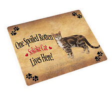 Spoiled Rotten Sokoke Cat Tempered Cutting Board (Large) Db1555