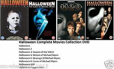 HALLOWEEN COMPLETE MOVIE 1-8 DVD COLLECTION Part 1 2 3 4 5 6 7 8 UK FILM UK NEW