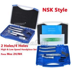 NSK style Pana Max 2 Hole / 4 Hole High & low Speed Handpiece Kit Set Dental