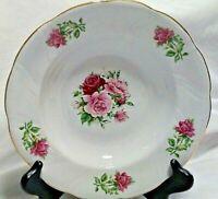 "Vintage Formalities Baum Brothers Maria Rose Pattern 8.5"" Salad Bowl Gold Trim"