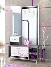 Mobile ingresso moderno SELENA con specchio e appendiabiti e LED Design moderno