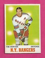 1970-71 OPC # 59 RANGERS TIM HORTON EX-MT CARD (INV# C7118)