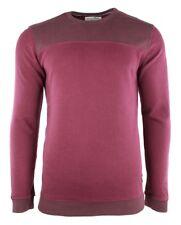 TOM TAILOR DENIM Herren Sweat Sweatshirt mit abgesetzter Partie deep burgund rot