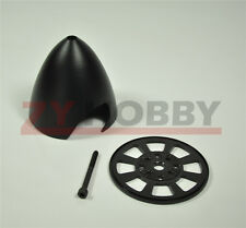 """3.25"""" Anodized Drilled Airplane Spinner For DLE30/55 MLD35/70 DA50/EVO54 Black"""