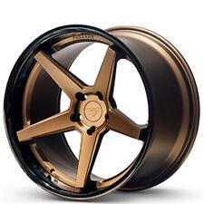 "4ea 20x9/20x10.5""  Ferrada Wheels FR3 Matte Bronze with Gloss Black Lip(S1)"