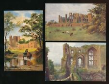 Warwicks Warwickshire KENILWORTH Castle x5 artist c1900/20s? PPCs