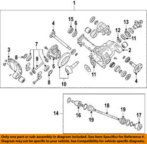 NISSAN OEM Front Differential-Gear Kit 384238S11A