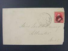 Melrose Highlands Massachusetts 1874-1897 & Atlantic 1873-1904 DPO Cancels 1892
