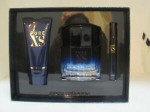 PURE XS by Paco Rabanne Set for Men: 3.4 oz. EDT Spray + 3.4 oz. Sh/Gel. New Box