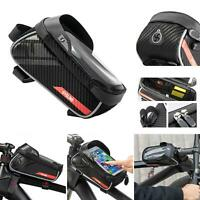 Mountain Road MTB Bike Bicycle Front Top Tube Touch Screen Phone Holder Case Bag
